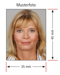 schablone passfoto