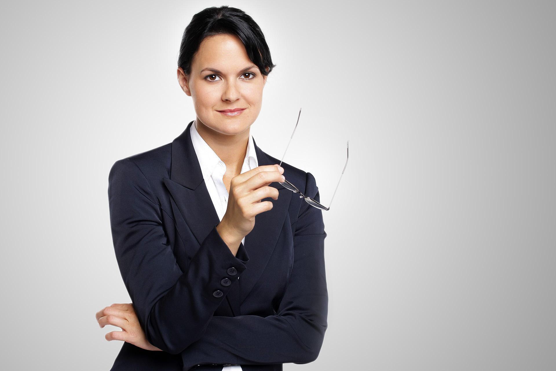 Business Frau heller Hintergrund